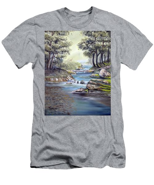 Rocky Stream Men's T-Shirt (Athletic Fit)