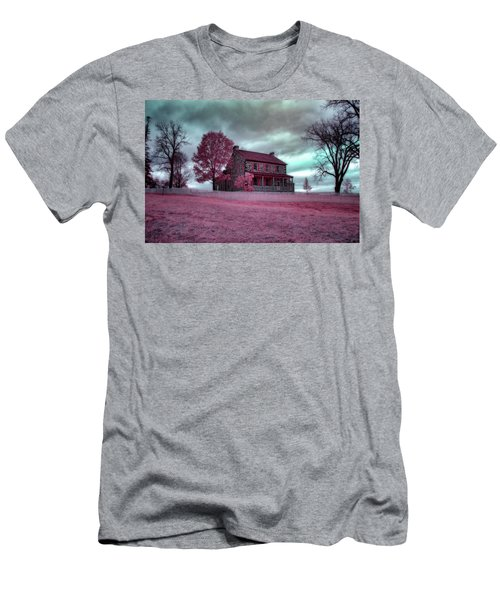 Rose Farm In Infrared Men's T-Shirt (Athletic Fit)
