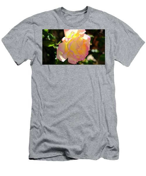 Men's T-Shirt (Athletic Fit) featuring the photograph Rose Illuminated by August Timmermans