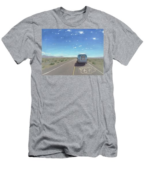 Route 66, Somewhere In California Men's T-Shirt (Athletic Fit)