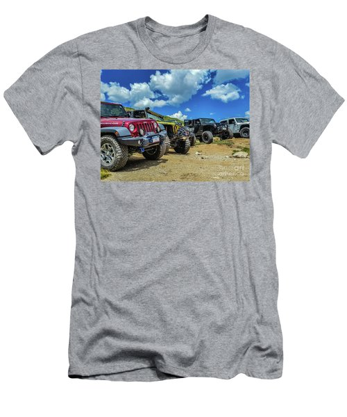 Row Of Jeeps Men's T-Shirt (Athletic Fit)