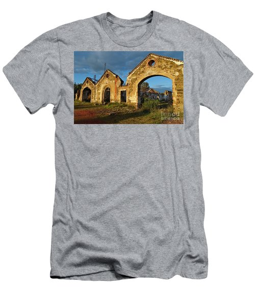 Ruins Of The Abandoned Mine Of Sao Domingos. Portugal Men's T-Shirt (Athletic Fit)
