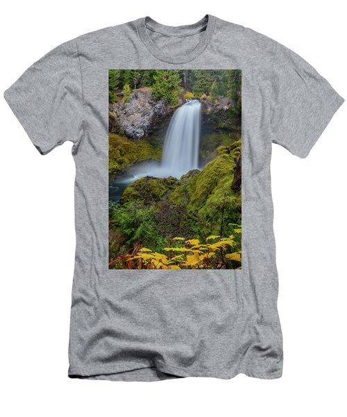 Men's T-Shirt (Athletic Fit) featuring the photograph Sahalie Falls, Autumn by Matthew Irvin