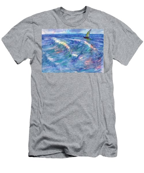 Sailboat In The Sea Men's T-Shirt (Athletic Fit)