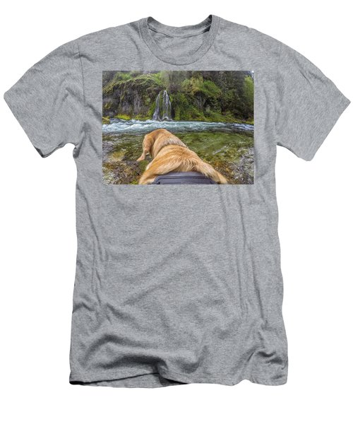Men's T-Shirt (Athletic Fit) featuring the photograph Salt Creek Falls By Photo Dog Jackson by Matthew Irvin