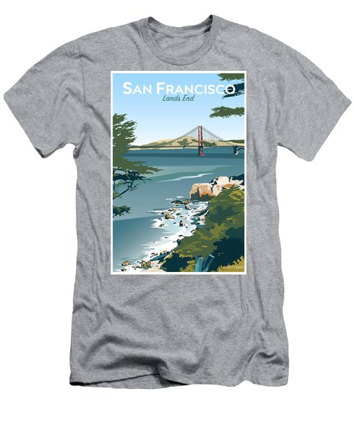 San Francisco Lands End Men's T-Shirt (Athletic Fit)