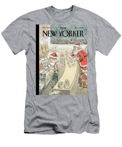 Santa's Little Helper Men's T-Shirt (Athletic Fit)