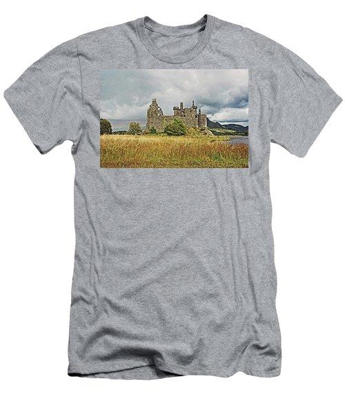 Scotland. Loch Awe. Kilchurn Castle. Men's T-Shirt (Athletic Fit)