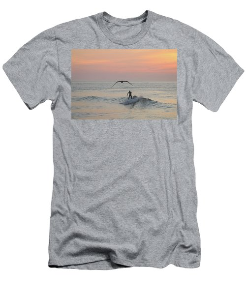 Seagull And A Surfer Men's T-Shirt (Athletic Fit)