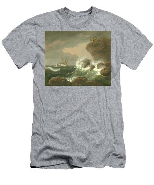Seascape, 1835 Men's T-Shirt (Athletic Fit)