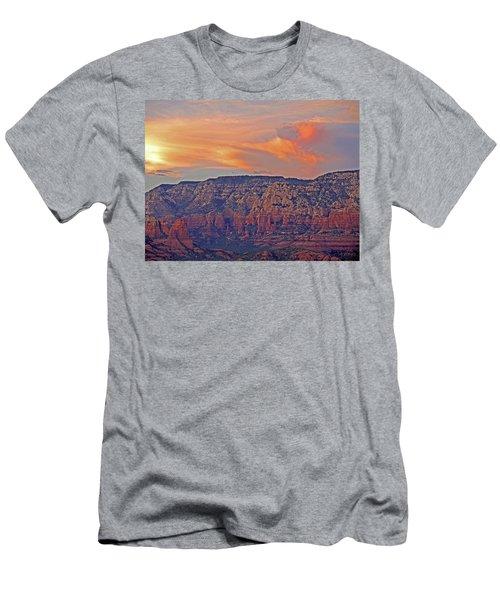 Men's T-Shirt (Athletic Fit) featuring the mixed media Sedona Dusk 5 by Lynda Lehmann