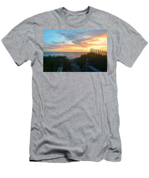 Men's T-Shirt (Athletic Fit) featuring the photograph September 28, 2018 Sunrise Nh  by Barbara Ann Bell
