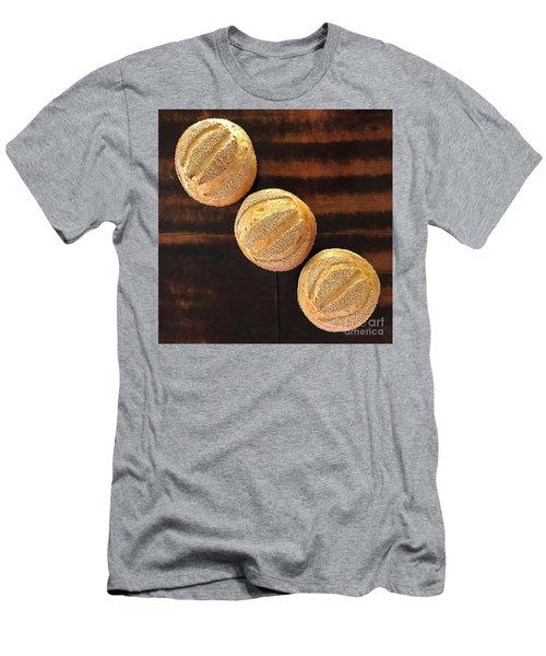 Sesame Seed Stripes 1 Men's T-Shirt (Athletic Fit)