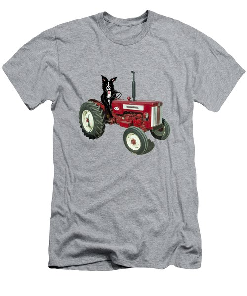 Sheepdog Tractor  Men's T-Shirt (Athletic Fit)