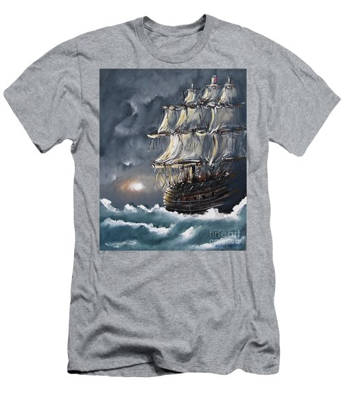 Ship Voyage Men's T-Shirt (Athletic Fit)
