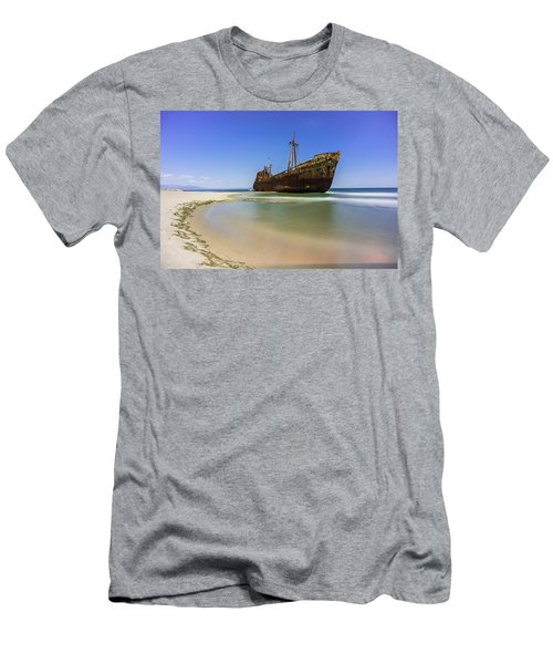 Shipwreck Dimitros Near Gythio, Greece Men's T-Shirt (Athletic Fit)