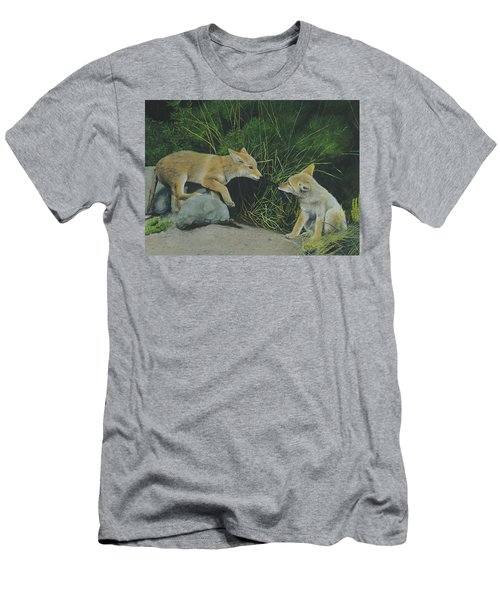Men's T-Shirt (Athletic Fit) featuring the painting Sibling Rivalry by Tammy Taylor
