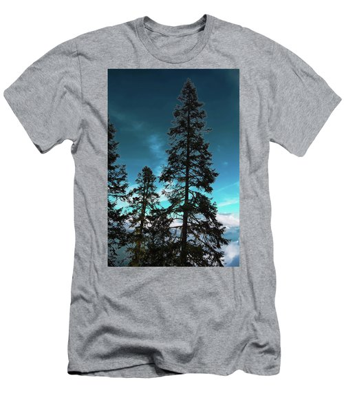 Silhouette Of Tall Conifers In Autumn Men's T-Shirt (Athletic Fit)