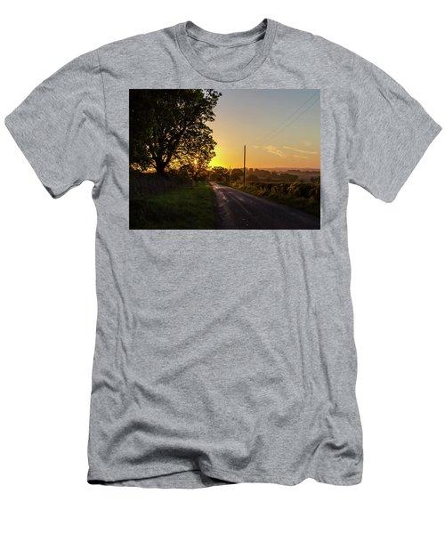 Silver Lines Men's T-Shirt (Athletic Fit)