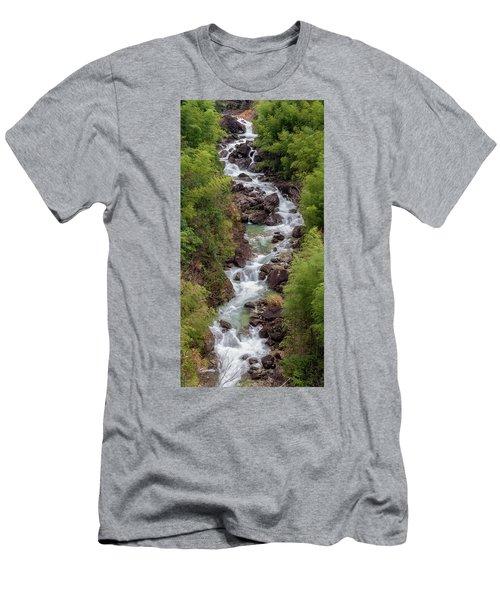 Small Cascade 1x2 Vertical Men's T-Shirt (Athletic Fit)