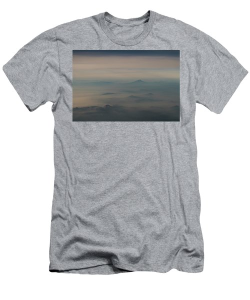 Men's T-Shirt (Athletic Fit) featuring the photograph Smoke From A Distant Fire by Alex Lapidus