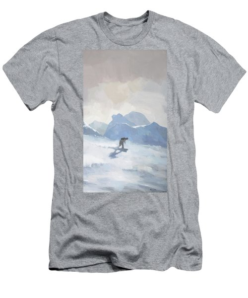 Snowboarding At Les Arcs Men's T-Shirt (Athletic Fit)