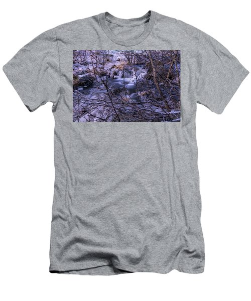 Snowy Forest With Long Exposure Men's T-Shirt (Athletic Fit)