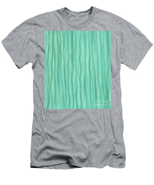 Soft Green Lines Men's T-Shirt (Athletic Fit)