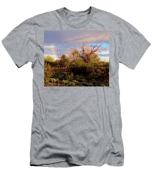 Sonoran Desert Spring Rainbow Men's T-Shirt (Athletic Fit)