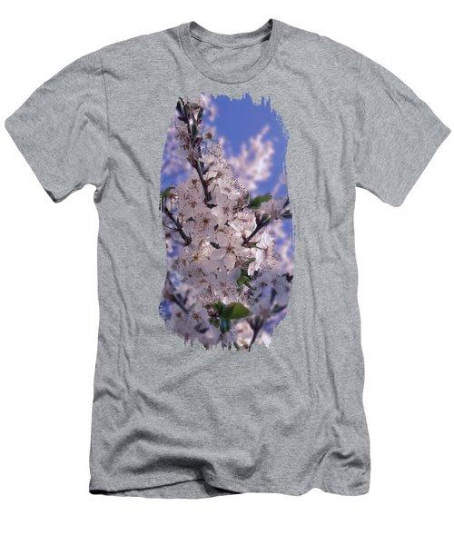 Sour Cherry Tree Blue Sky Men's T-Shirt (Athletic Fit)