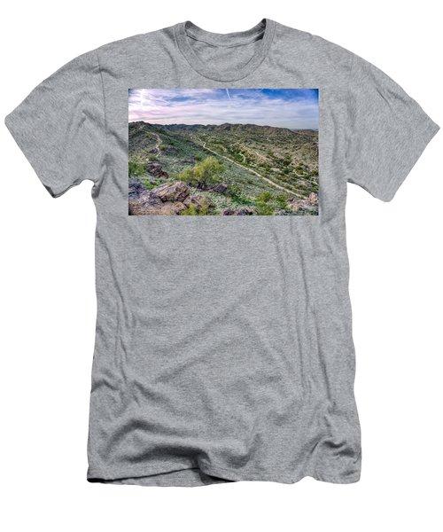 South Mountain Landscape Men's T-Shirt (Athletic Fit)