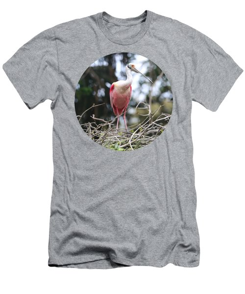 Spoonbill On Branches Men's T-Shirt (Athletic Fit)