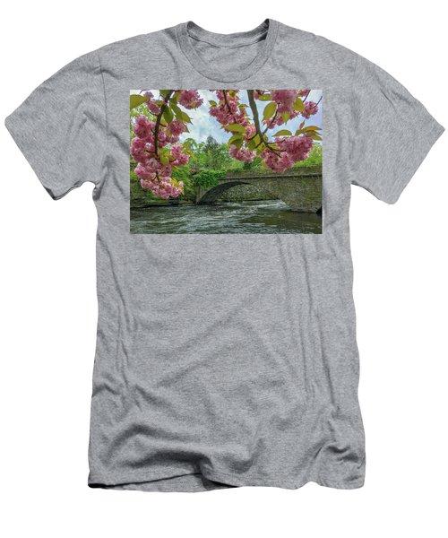Spring Garden On The Bridge  Men's T-Shirt (Athletic Fit)
