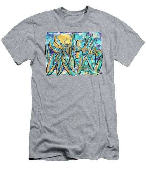 Men's T-Shirt (Athletic Fit) featuring the painting Spring Life Of Nature by Ariadna De Raadt