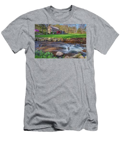 Springtime At The Grist Mill Men's T-Shirt (Athletic Fit)