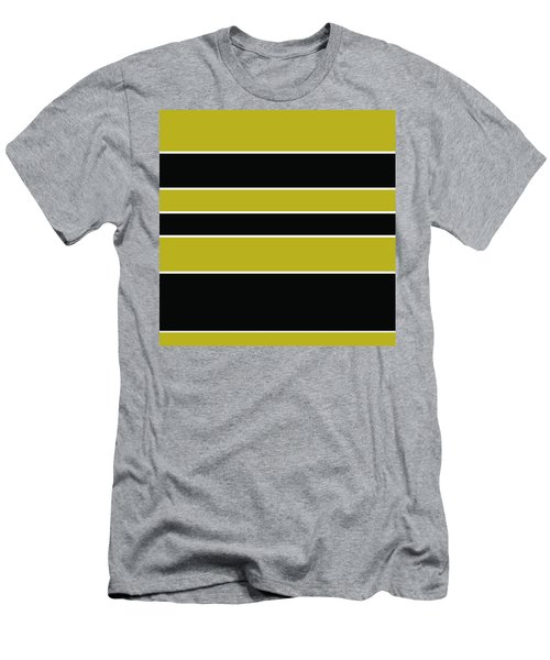 Stacked - Gold, Black And White Men's T-Shirt (Athletic Fit)
