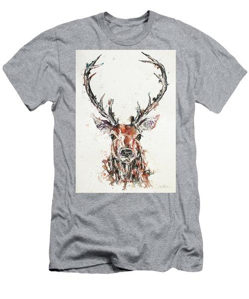 Stag Portrait Men's T-Shirt (Athletic Fit)