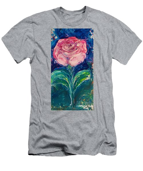 Standing Rose Men's T-Shirt (Athletic Fit)