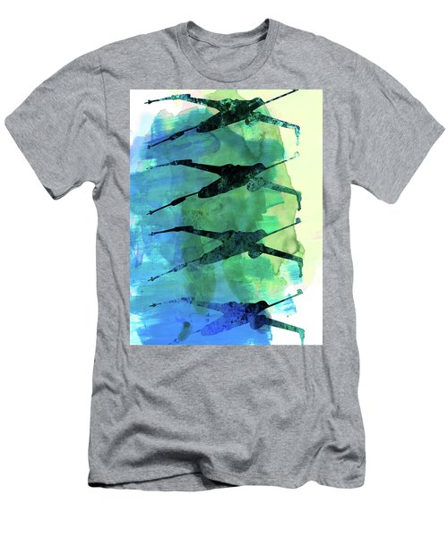 Star Warrior X-wing Watercolor 1 Men's T-Shirt (Athletic Fit)