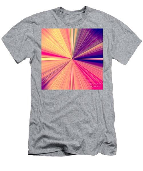 Starburst Light Beams In Abstract Design - Plb457 Men's T-Shirt (Athletic Fit)
