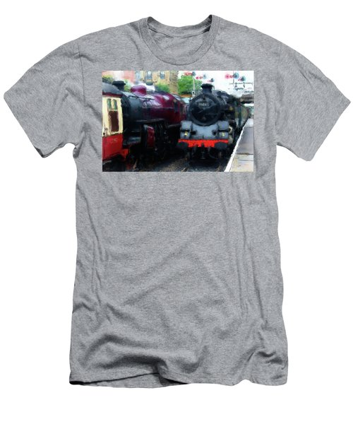 Steam Trains Men's T-Shirt (Athletic Fit)