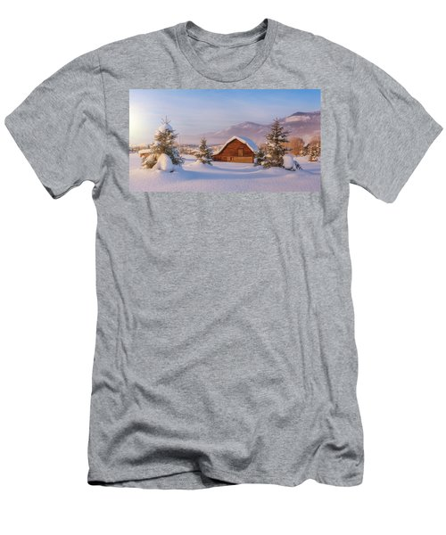 Men's T-Shirt (Athletic Fit) featuring the photograph Steamboat Morning by Darren White