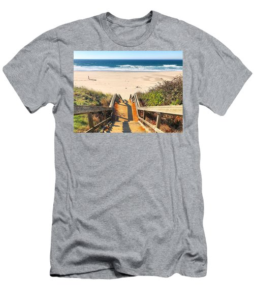 Men's T-Shirt (Athletic Fit) featuring the photograph Steps To The Beach by Brian Eberly