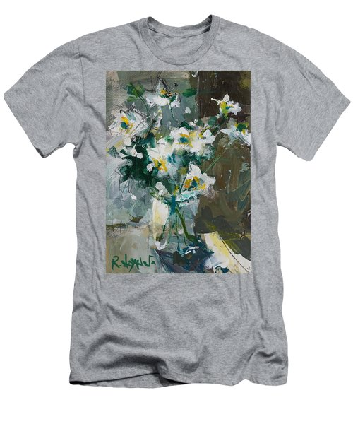 Still Life With White Anemones Men's T-Shirt (Athletic Fit)