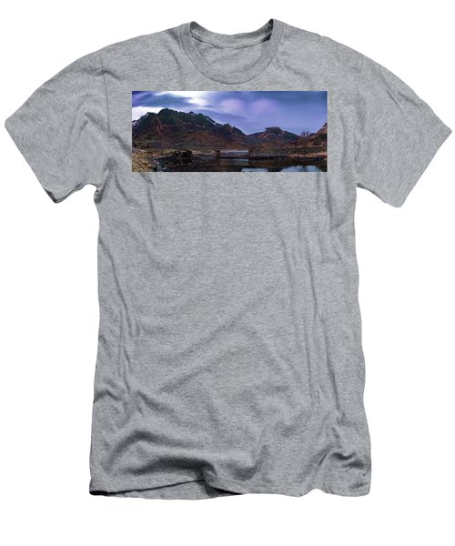 Stone Bridge On Lofoten Islands  Men's T-Shirt (Athletic Fit)
