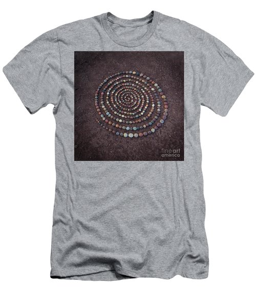 Stone Spriral Men's T-Shirt (Athletic Fit)