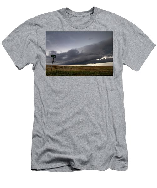 Men's T-Shirt (Athletic Fit) featuring the photograph Storm Chasin In Nader Alley 004 by NebraskaSC