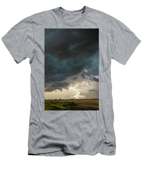 Men's T-Shirt (Athletic Fit) featuring the photograph Storm Chasin In Nader Alley 012 by NebraskaSC