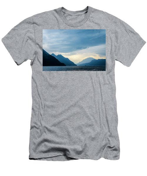 Storm Clouds On Lake Lucerne Men's T-Shirt (Athletic Fit)