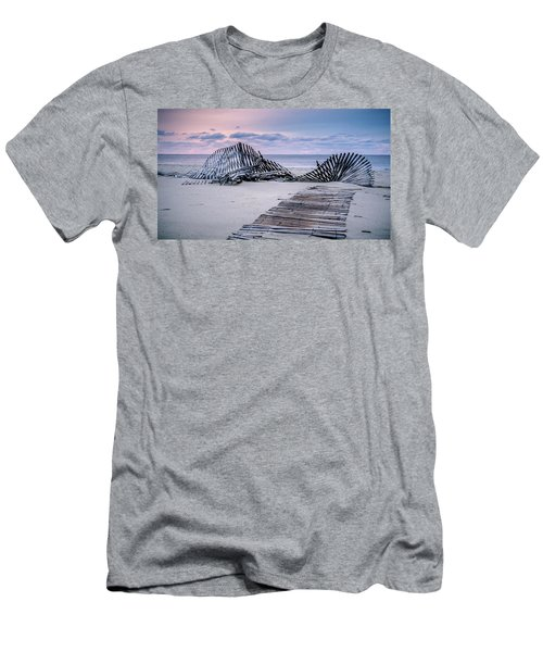 Storm Fence Sunrise Men's T-Shirt (Athletic Fit)